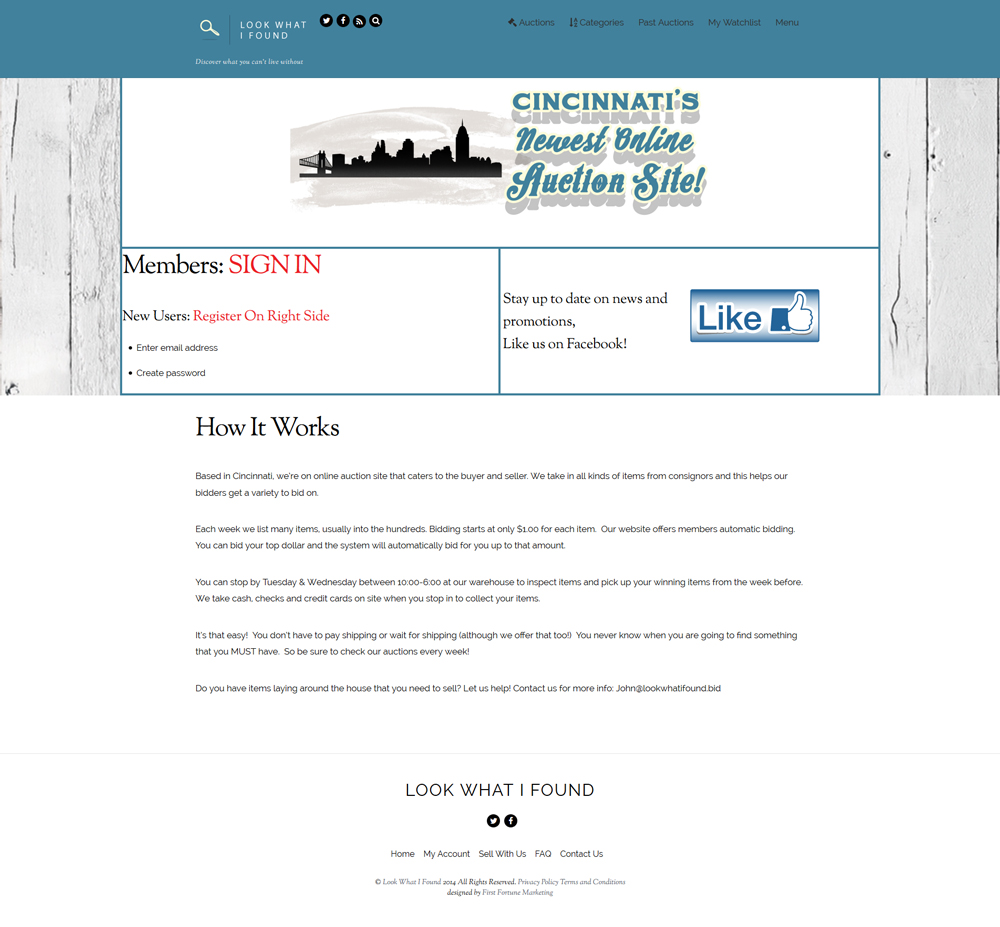 cincinnati web design first fortune marketing portfolio example 7