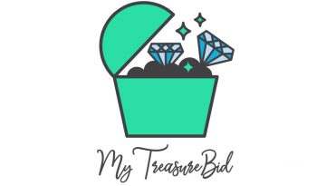 graphic design portfolio example treasure auction logo