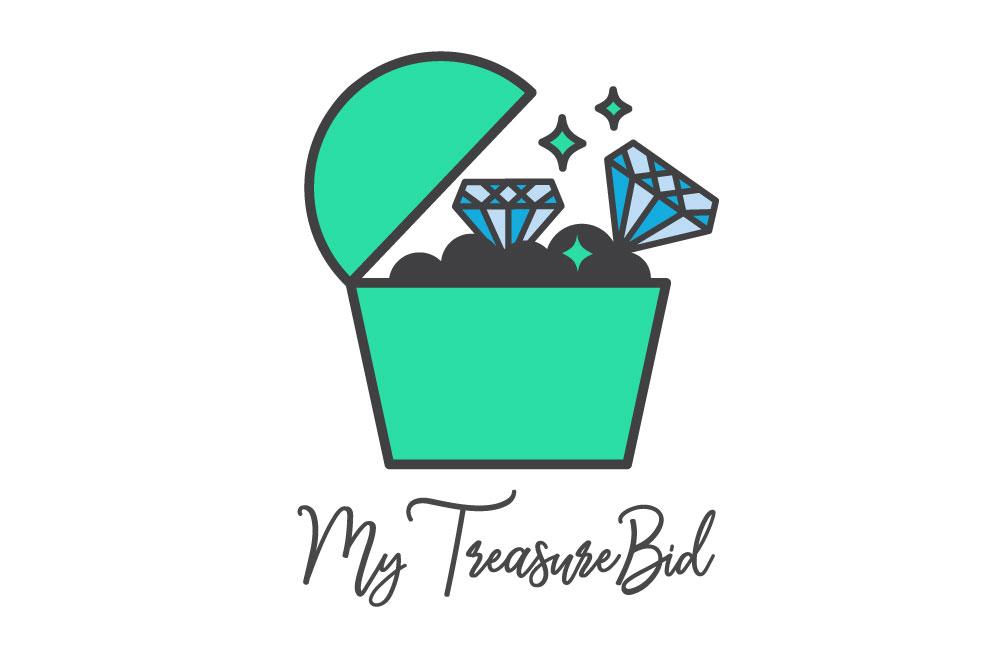graphic design portfolio example treasure auction logo