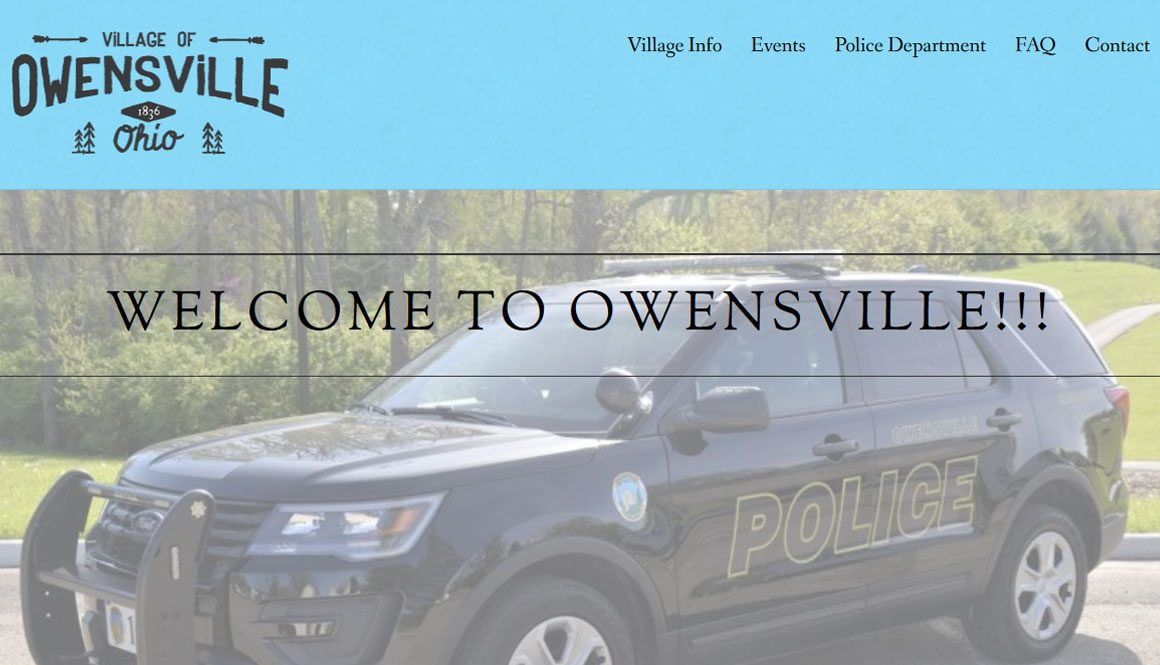 Web Design Portfolio website image ohio city owensville