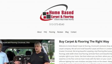 Website Design Portfolio carpet website